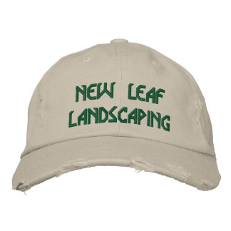 NEW LEAF LANDSCAPING EMBROIDERED HAT