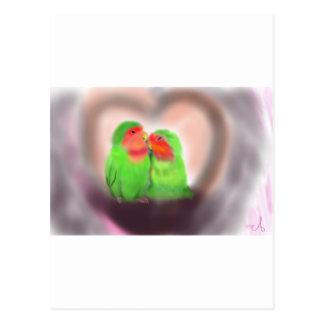 New Lovebirds Postcard
