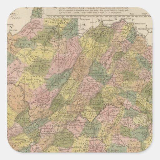 New Map Of Virginia Sticker