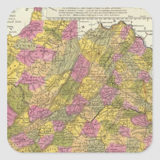 New Map Of Virginia Stickers