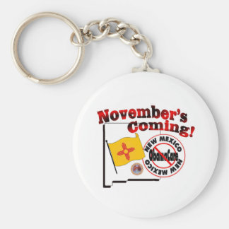New Mexico Anti ObamaCare – November's Coming! Basic Round Button Key Ring