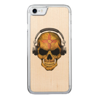 New Mexico Dj Skull with Headphones Carved iPhone 7 Case