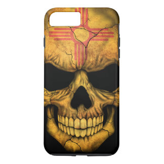 New Mexico Flag Skull on Black iPhone 7 Plus Case