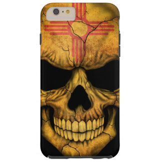 New Mexico Flag Skull on Black Tough iPhone 6 Plus Case