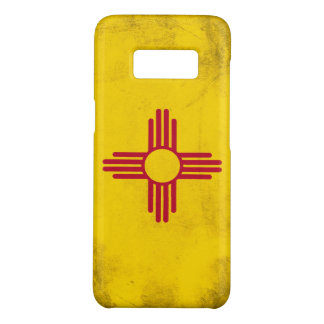 New Mexico Grunge- Zia Sun Symbol Case-Mate Samsung Galaxy S8 Case