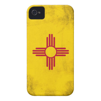 New Mexico Grunge- Zia Sun Symbol iPhone 4 Case