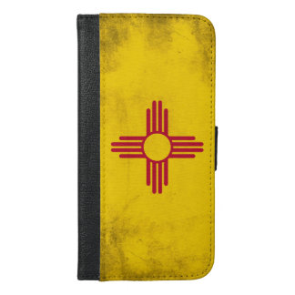 New Mexico Grunge- Zia Sun Symbol iPhone 6/6s Plus Wallet Case