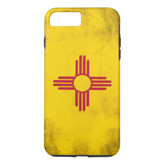 New Mexico Grunge- Zia Sun Symbol iPhone 7 Plus Case