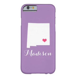 New Mexico Heart Lilac Purple Custom Monogram Barely There iPhone 6 Case