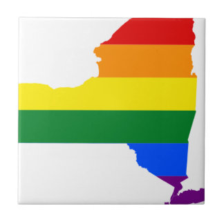 New Mexico LGBT Flag Map Tile