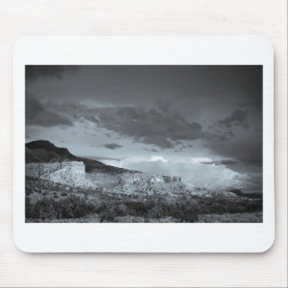 New Mexico Storm Black White Mouse Pad