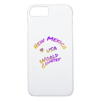 New Mexico usa world country,  colorful text art iPhone 7 Case
