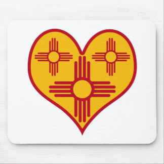 New Mexico Zia Heart Mouse Pad