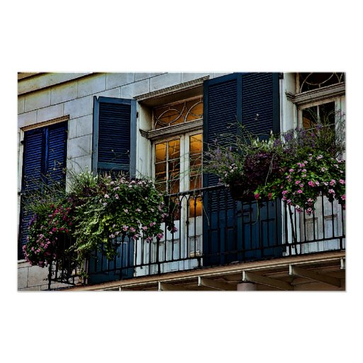 New Orleans Colors - Balcony  Print