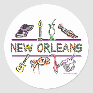 New-Orleans-ICONS- copy Classic Round Sticker