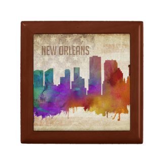 New Orleans, LA | Watercolor City Skyline Gift Box