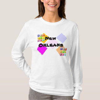 New Orleans T shirt flowers