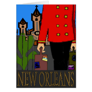 New Orleans Travel Poster Card