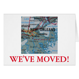 New Orleans We've Moved address announcement