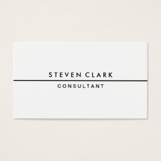 New plain white simple elegant stripe professional business card