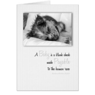 New Puppy Baby Congratulations Card! Greeting Card