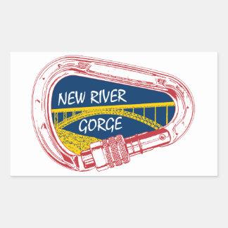 New River Gorge Climbing Carabiner Rectangular Sticker
