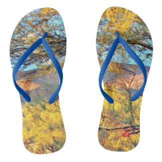New River Landscape Flip Flops Thongs