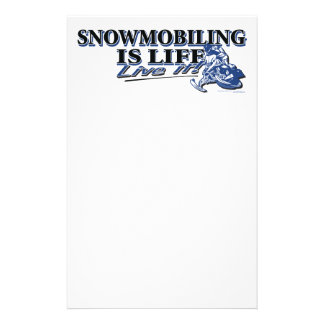 NEW-SNOWMOBILING-IS-LIFE-2C CUSTOMISED STATIONERY