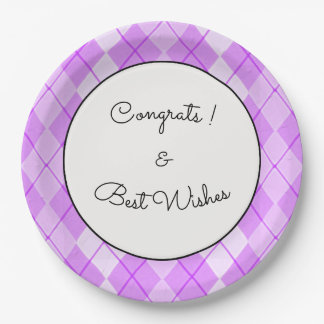 NEW-Spring-Beauty-Argyle-Pink-Congrats_TEMPLATE Paper Plate