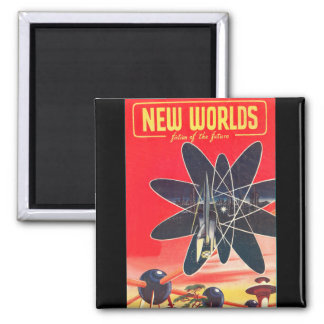 New Worlds 1952_Pulp Art Square Magnet