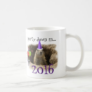 New Year 2016 - Cute Prairie Dog Party Coffee Mug