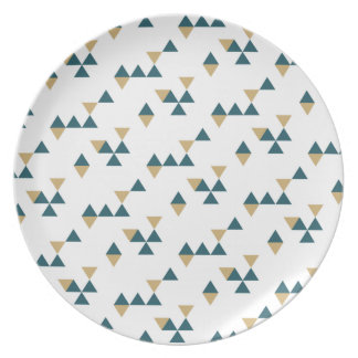 New Year Geometric Dinner Plate - Blue