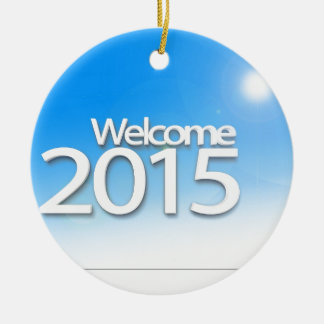 New Year Image 2015 Christmas Ornament