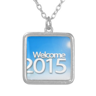 New Year Image 2015 Square Pendant Necklace