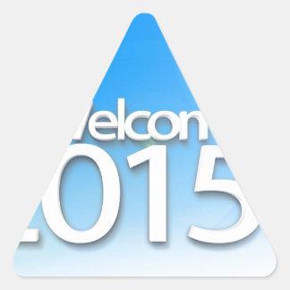 New Year Image 2015 Triangle Sticker