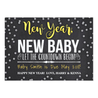 New Year, New Baby Pregnancy Announcement