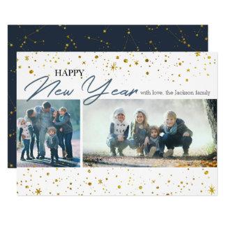 New Year   Stars & Constellation 2 Photos Card