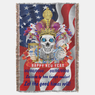 New Year's Any Year Read About Design Below Throw Blanket