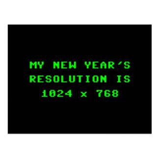 New Year's Display Resolution 1024x768 Postcard