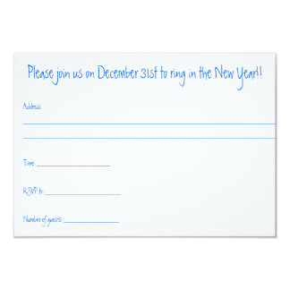 New Years eve 2015 party invitation