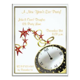 New Year's Eve Clock Invitation