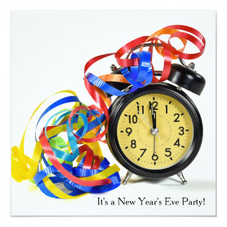 New Years Eve Party Clock Card