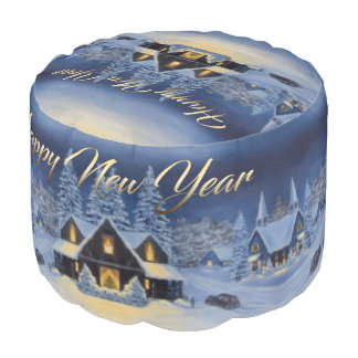 New Year's Gift Pouf