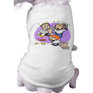 New Year's Partyers Sleeveless Dog Shirt