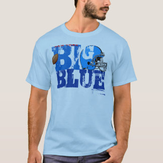 New York Big Blue Helmet Football T-Shirt 1