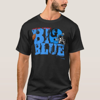 New York Big Blue Helmet Football T-Shirt 2