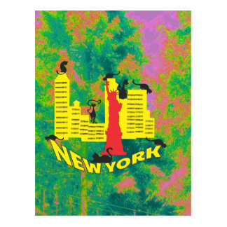 NEW YORK cat Postcard