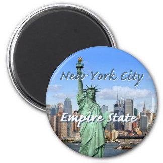New York City 6 Cm Round Magnet