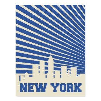 New York City Blue Postcard