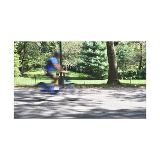 New York City Central Park Cyclist Bicycle Photo Canvas Print